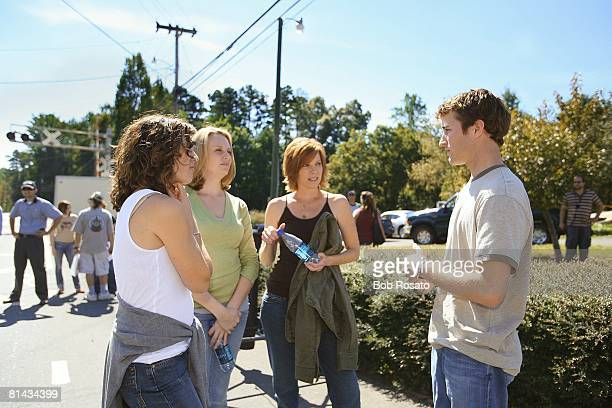 Auto Racing NASCAR Driver Kasey Kahne filming Allstate Insurance 'Girls Day Out III' TV commercial during shoot Charlotte NC 10/2/2006