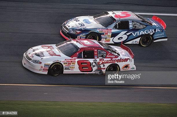 Auto Racing NASCAR Pepsi 400 Dale Earhardt Jr in action vs Andy Houston Daytona FL 7/7/2001