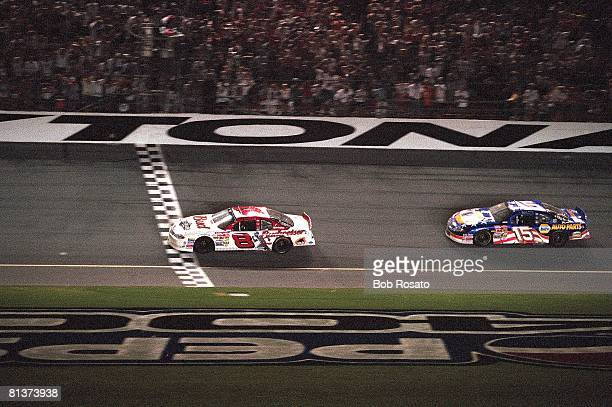 Auto Racing NASCAR Pepsi 400 Dale Earhardt Jr in action vs Matt Kenseth Daytona FL 7/7/2001