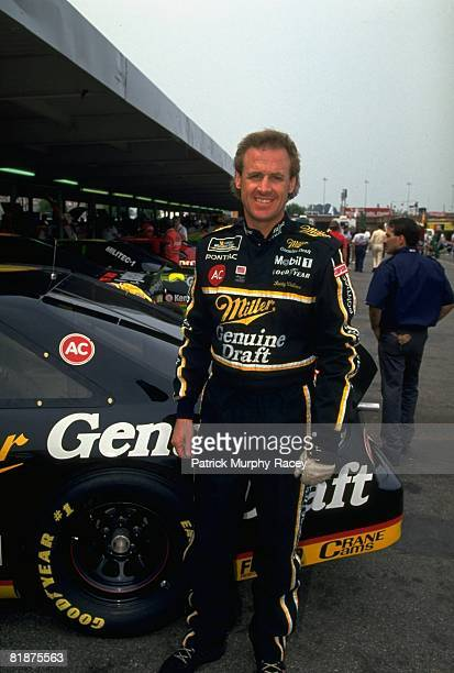 Auto Racing NASCAR Portrait of Rusty Wallace with car at track Charlotte NC 5/29/1993