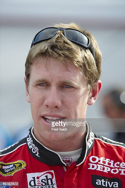 NASCAR Sharpie 500 Closeup of Carl Edwards during practice before race at Bristol Motor Speedway Bristol TN 8/22/2008 CREDIT Fred Vuich