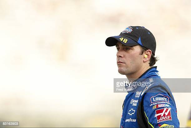 NASCAR Sharpie 500 Closeup of Jimmie Johnson during practice before race at Bristol Motor Speedway Bristol TN 8/22/2008 CREDIT Fred Vuich