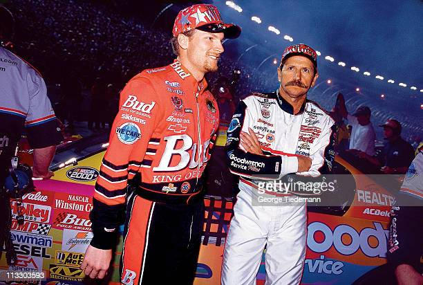 NASCAR The Winston Dale Earnhardt Jr and Dale Earnhardt Sr before AllStar Race at Lowes Motor SpeedwayConcord NC 5/19/2000CREDIT George Tiedemann