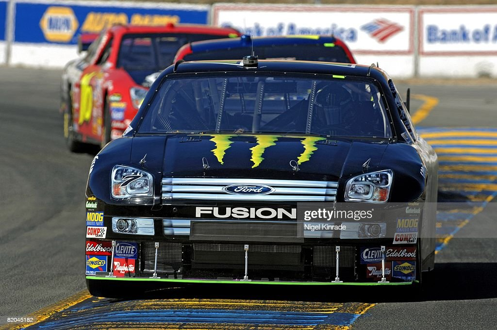 NASCAR Toyota/Save Mart 350, Robby Gordon (7) In Action During Race