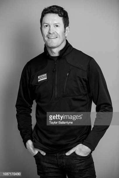 Portrait of IndyCar driver Scott Dixon of Chip Ganassi Racing Teams posing during photo shoot at Meredith Photo Studios New York NY CREDIT Taylor...