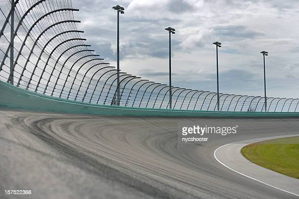 auto racing racetrack turn - nascar stock pictures, royalty-free photos & images