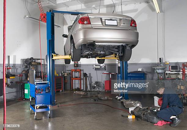 Auto Repair Shop - Car On Lift