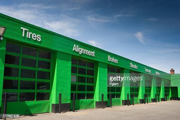 auto repair shop - auto repair shop exterior stock pictures, royalty-free photos & images