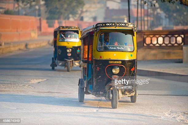Auto rickshaw in street, India