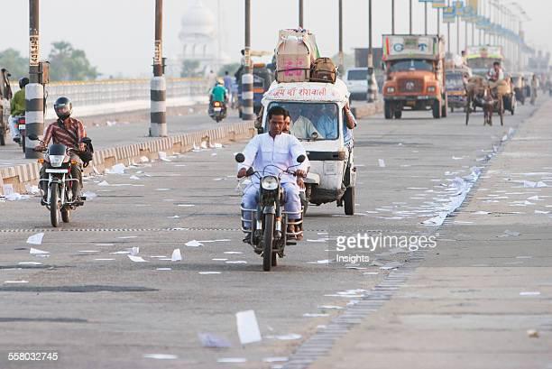 Auto Rickshaw On The Mahatma Gandhi Seti Patna Bihar India