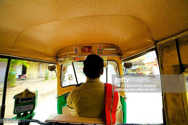 auto ride, indore, mp - rickshaw stock photos and pictures