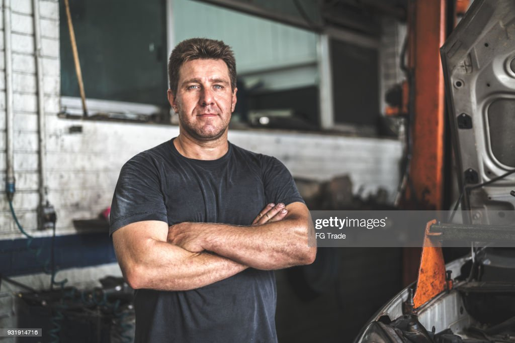 Auto Service Worker/Owner : Stock Photo