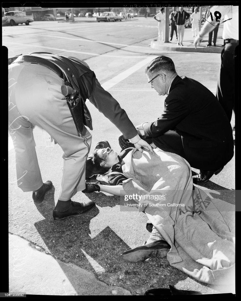 Auto vs bicycle accident, 12 December 1960  Allen Pritchard