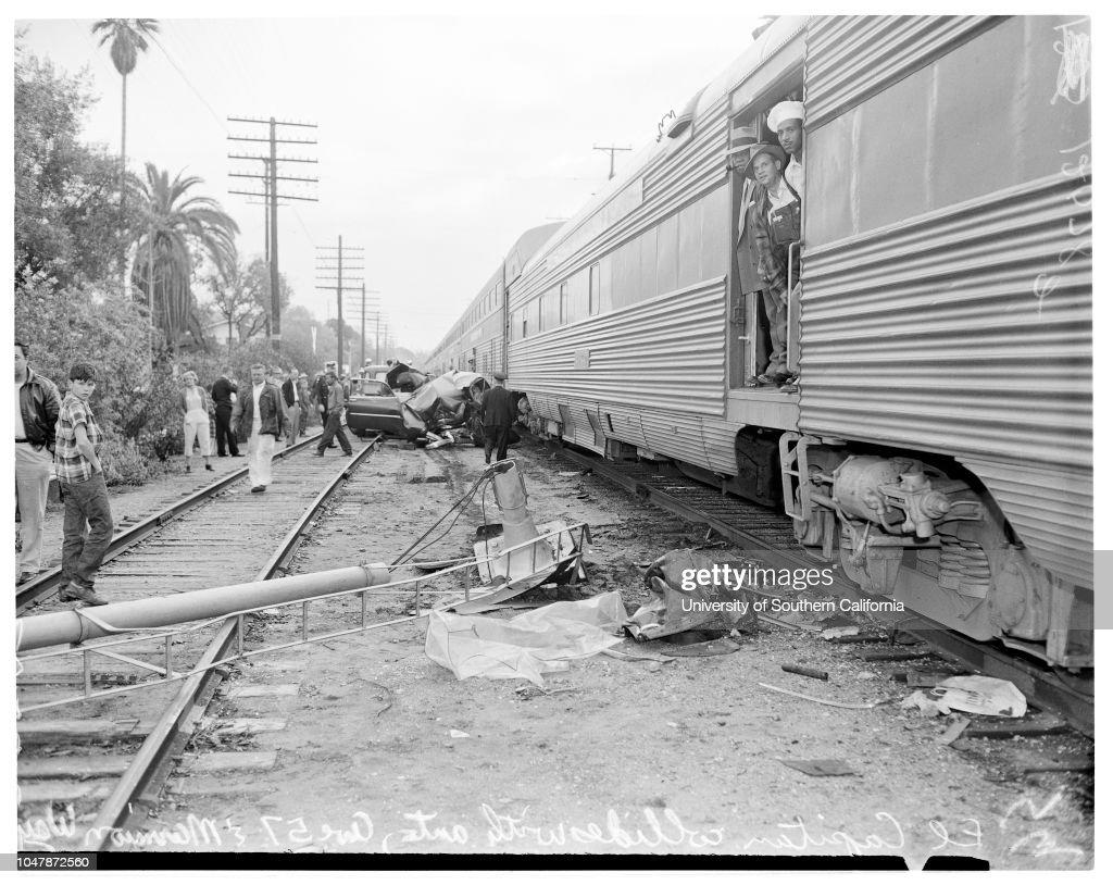 Auto Vs Train 25 February 1957 El Capitan Train Hit Car