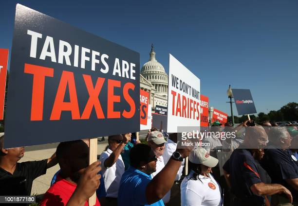 Auto workers rally against US President Donald Trump's proposed tariffs on auto imports and the impact on auto makers and their surrounding...