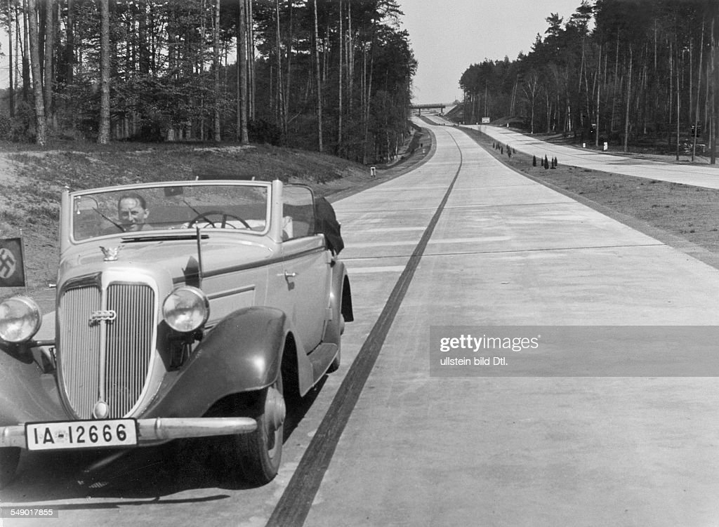 Autobahn Berlin Stettin Section Eberswalde 1936 News Photo Getty