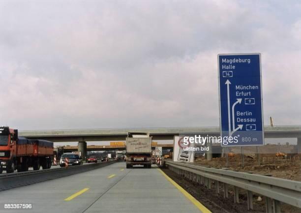 Autobahn Leipzig Richtung Berlin 1999