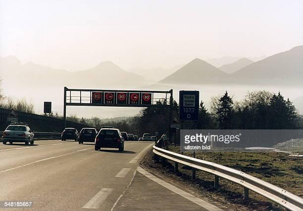 Autobahn München Salzburg vor Bad Aibling März 1999