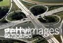 Autobahnkreuz Hermsdorfer Kreuz in Thüringen Luftaufnahme