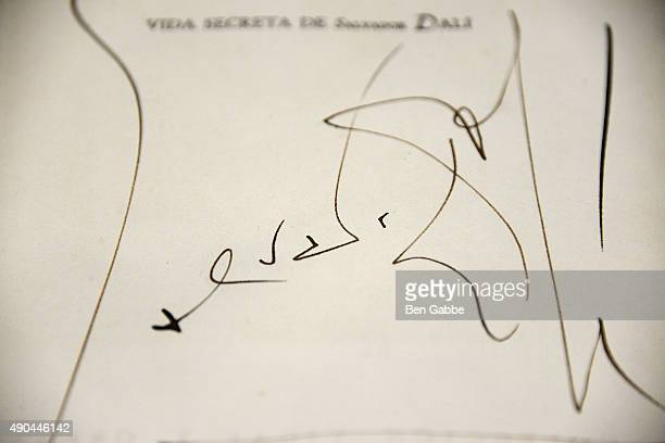 Autobiography signed by Salvador Dali with a drawing at the Rare Titanic Artifacts from Lifeboat No 1 Other Historic Autographs Auction Sneak Peak at...