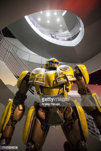 """Autobot """"Bumblebee"""" is seen during the opening of the new exhibit Hollywood Dream Machines Vehicles Of Science Fiction And Fantasy at Petersen..."""