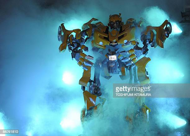 Autobot Bumblebee is shown during the Transformers Revenge of the Fallen world premiere in Tokyo on June 8 2009 The second installment of the...