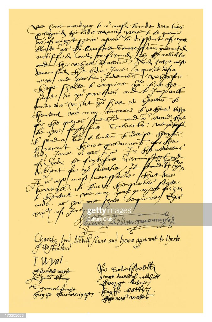 Letter from Henry Neville, Lord Abergavenny, Charles Neville, Lord Neville, Sir Thomas Wyat and nine other gentlemen of Kent to Sir Nicholas Pelham and all other gentleman of Sussex, informing them that they have proclaimed the Lady Mary as Queen and denounced the Lady Jane Grey, and requiring them to do the same. 19 July 1553.Source: British Museum.