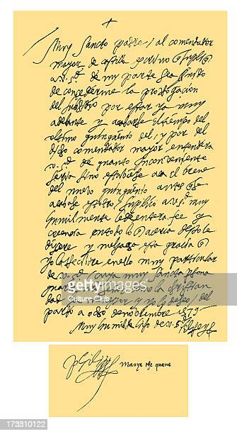 Letter from Philip II of Spain to Pope Gregory XIII Philip begs that Pope Gregory XIII grant a delay for the payment of a subsidy and that he give...