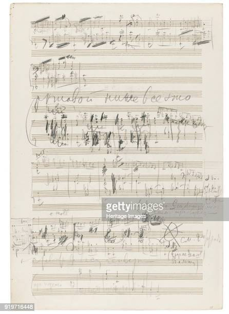 Autograph manuscript of the Orchestral Suite No 2 in C major Op 53 1883 Private Collection