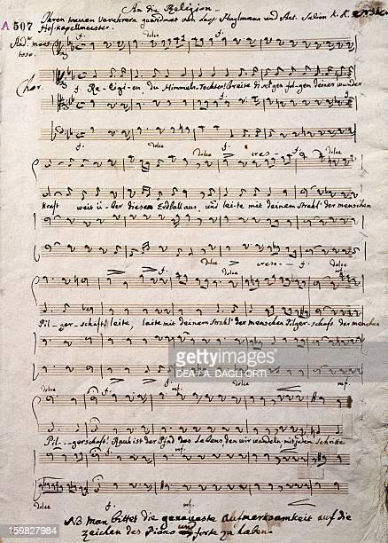 Autograph music score of Oratorium by Antonio Salieri Vienna Gesellschaft Der Musikfreunde