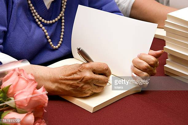 autograph - authors stock photos and pictures