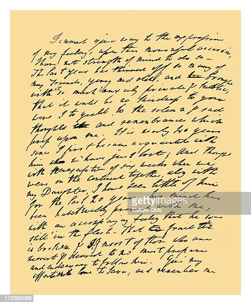 William Wordsworth. Letter on receipt of the news of the death of Samuel Taylor Coleridge, addressed to Henry Nelson Coleridge. 29 July 1834. Source:...
