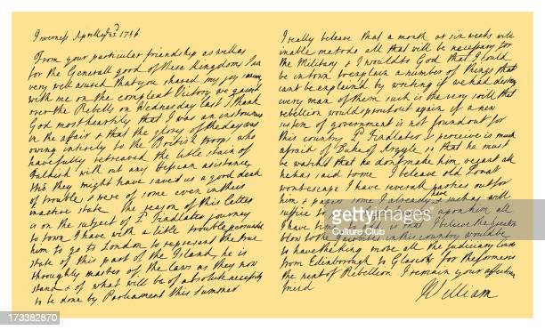 Letter from William Augustus, Duke of Cumberland to Thomas Pelham-Holles, Duke of Newcastle and Secretary of State. Written a week after the battle...