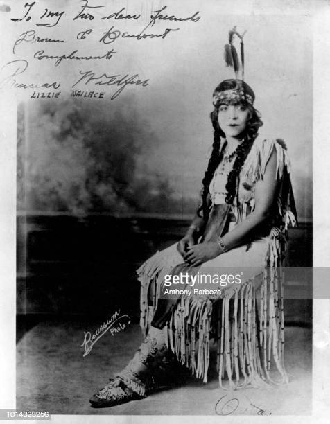 Autographed portrait of actress Lizzie Wallace early twentieth century The photo is inscribed with a handwritten note that reads 'To my two dear...