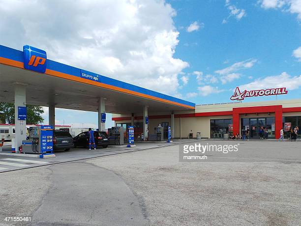 Autogrill restaurant and Gruppo Api gas station in Italy
