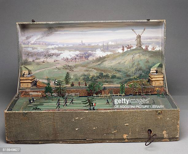 Automated battle scene mechanical toy recreating the FrancoPrussian War of 18701871 France late 19th century Milan Museo Del Giocattolo E Del Bambino