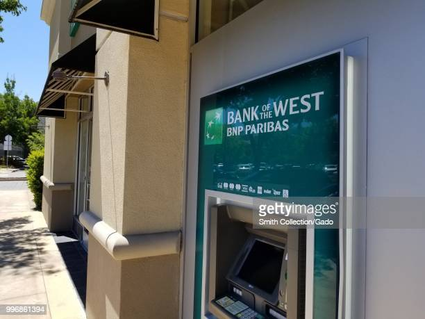 Automated Teller Machine with logo for Bank of the West a division of BNP Paribas on a sunny day in San Ramon California July 9 2018