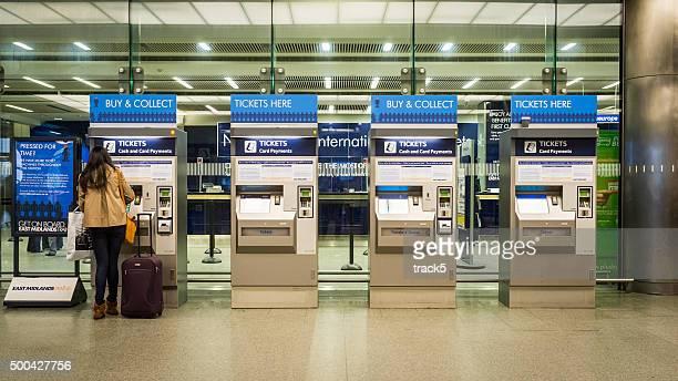 Automated train ticket machine, St Pancras, London