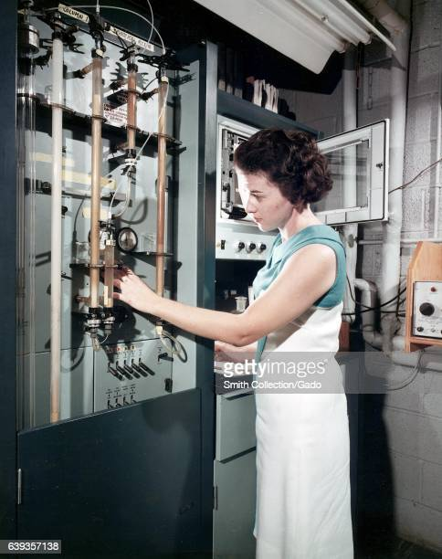 Automatic amino acid analyzer gives the amount of each amino acid in a protein 1966 Image courtesy US Department of Energy