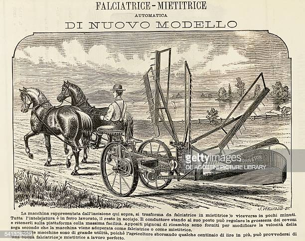 Automatic mower and harvester Industrial Revolution United Kingdom 19th century