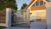 Automatic Sliding Gate and house