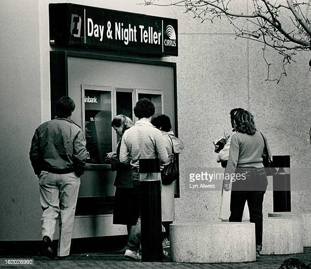 Automatic Teller Machines; First Interstate Bank at 17th and California at 12:45 p,;