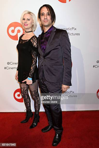 Automatik Eden attends the Rachele Royale Single and Music Video Release for 'Circus Life' at Cinematic Pictures Gallery on January 13 2017 in...
