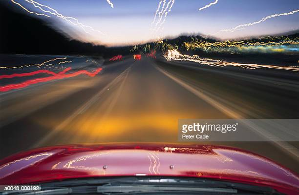 Automobile and Blurred Lights