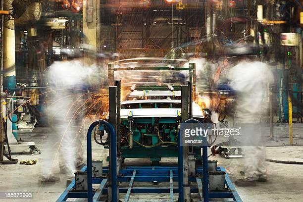 Automobile Fabrik Schweißen Montage line