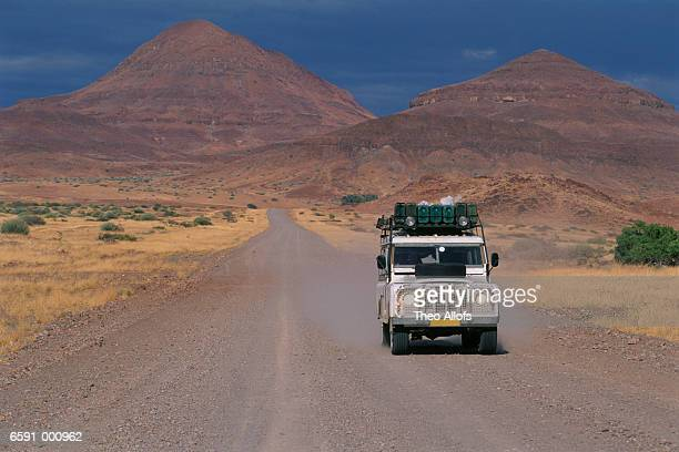 Automobile on Desert Road
