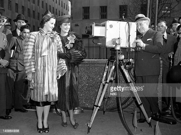 Dorothy Lamour at Rockefeller Plaza on November 10 1938 for the 1939 automobile show this was the first televised auto show