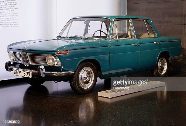 BMW 1500 automobile sits on display at the Bayerische Motoren Werke AG Museum in Munich Germany on Friday Sept 3 2010 Bayerische Motoren Werke AG the...