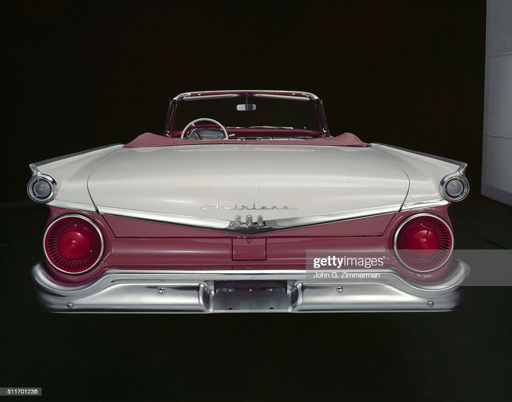 Studio shot of the rear end of the 1959 Ford Fairlane 500