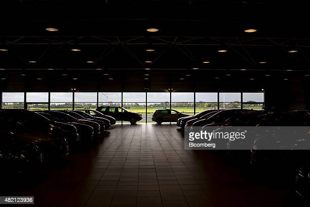Automobiles sit inside a LeasePlan Corp used car leasing and contract hire showroom in Breukelen Netherlands on Monday July 27 2015 Volkswagen AG and...